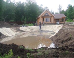 Строительство пруда 1